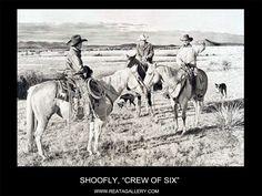 """Western Art by Shoofly, """"Crew of Six"""""""