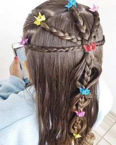 Cool Haircuts For Girls, Little Girl Hairstyles, Creative Hairstyles, Cute Hairstyles, Back To School Hairstyles, Baby Girl Hair, Toddler Hair, Face Hair, Hair Dos