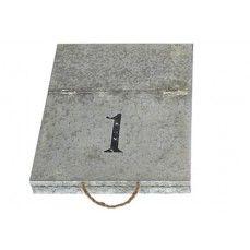 Metal File Box - no. 1    $24.00 @ http://www.antiquefarmhouse.com/current-sale-events/office.html