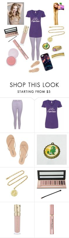 """""""Rapunzel Casual #1 DisneyTales-HQ"""" by disneytales-hq ❤ liked on Polyvore featuring Disney, Tkees, Orit Elhanati, Hot Topic, Smith & Cult, L'Oréal Paris and 100% Pure"""