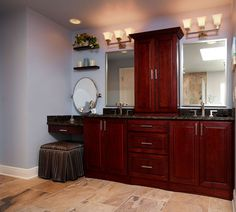 Blue master bathroom before and after   Bathroom Home Renovation Project   Winter Springs FL   Before and ...