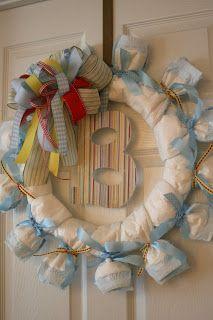 design {etc}: diaper wreaths - baby boy