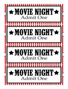 Sweet Daisy Designs: Free Printables: Home Movie Theatre Night