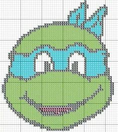 just change the blue! Free Cross Stitch Charts, Cross Stitch For Kids, Cross Stitch Patterns, Plastic Canvas Christmas, Plastic Canvas Crafts, Plastic Canvas Patterns, Cross Stitching, Cross Stitch Embroidery, Crochet Ninja Turtle