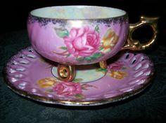 3 Footed TEA CUP Royal Halsey Japan