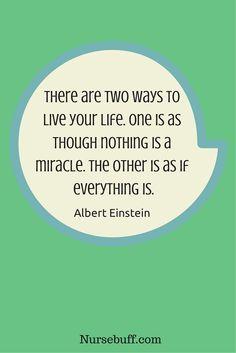 einstein inspirational nursing quotes