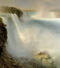 Frederic Edwin Church - Niagara Falls, From The American Side 1867 - National Galleries of Scotland