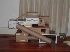 DIY Ferret Toys   make a play castle for your ferrets gather cardboard boxes from ...