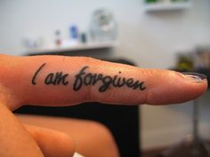 So appropriately placed... Before pointing your finger at anyone else, remember that you were guilty and are forgiven.... And are called to forgive, seventy times seven times.