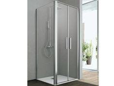 Cabina de ducha de esquina de cristal