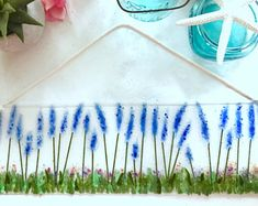 Fused Glass Lavender Field Suncatcher or Wall Hanging