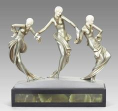 """""""Three Dancers"""" Ornament by Paul Philippe, 1930s"""