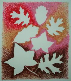 Fall Leaves (Lipstick Art)