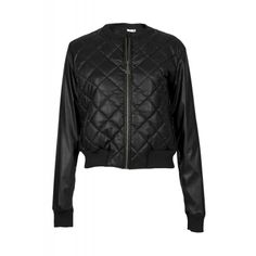 QUILTED LEATHER BOMBER JACKET Quilted Leather, Bomber Jacket, Leather Jacket, Fall, Jackets, Shopping, Fashion, Studded Leather Jacket, Autumn