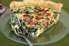 Something delicious for Fathers day! Just a Spoonful of: Double Quiche Recipes! Bacon Basil Quiche & Spinach Bacon Quiche