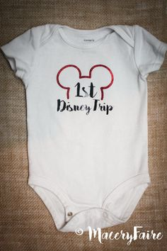 Personalized 1st Disney trip onesie or t-shirt baby by MaceryFaire