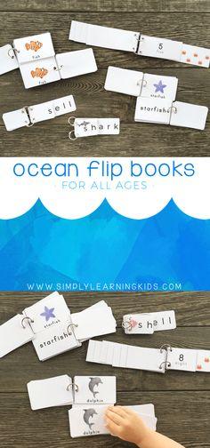 Free Ocean Flip Books. Perfect for an ocean unit or summer theme!