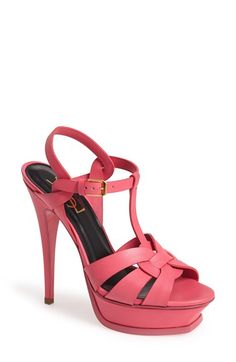 Saint Laurent 'Tribute' Sandal (Women) available at #Nordstrom--$925