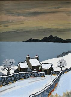 David BARNES artist, paintings and art at the Red Rag British Art Gallery Landscape Drawings, Watercolor Landscape, Abstract Landscape, Landscape Paintings, Painting Snow, Winter Painting, Fantasy Landscape, Winter Landscape, Woodcut Art
