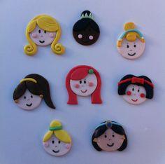 Disney Princesses Edible Cupcake Toppers