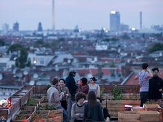 Klunkerkranich rooftop bar, Berlin