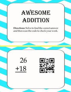 59 best classroom qr codes images on pinterest qr codes task powers of 10 math face off 5nbt2 fandeluxe Choice Image