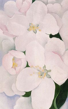 Georgia O'Keeffe Apple Blossoms 2 1930 - Reproduction Oil Paintings