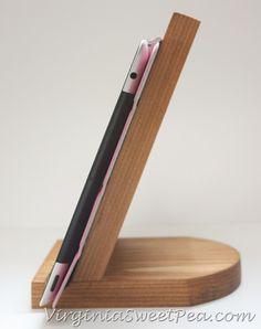DIY Tablet Holder by virginiasweetpea.com