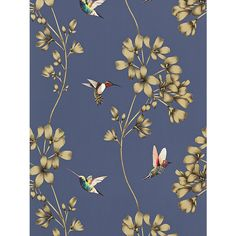 Buy Harlequin Amazilia Wallpaper, Indigo, 111059 Online at johnlewis.com