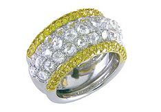Platinum and 18k Yellow Gold Domed Ring