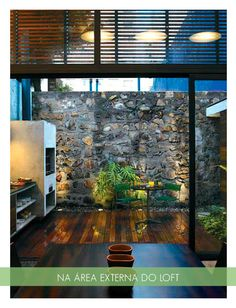 stone wall indoors