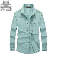 c53b1458442 CLOTHES PLUS SIZE M~5XL BRAND CLOTHING SPRING CASUAL FASHION COTTON MEN  SOLID LONG SLEEVE