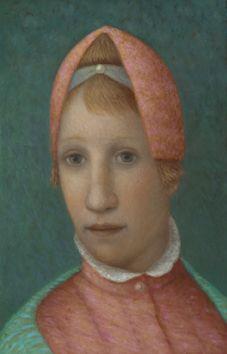 Marieloes Reek - High hair - 25 x 16 cm, Oil/wood, 2013 High Hair, Lady And Gentlemen, Feminine, Paintings, Wood, Women's, Paint, Woodwind Instrument, Painting Art