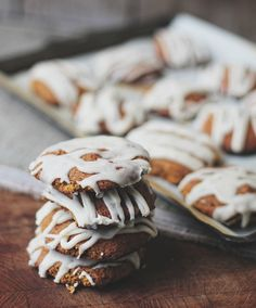 Pumpkin Cookies with Maple Icing. Fall for the flavors of the season with this sweet treat.