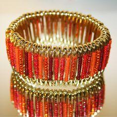 Tiger Lily - Safety Pin Bracelet by MysticLily