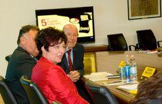 I tre relatori della conferenza: Edoardo Maricchio, Flavia Moimas, Elvio Guagnini