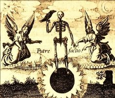 "1622 woodcut ""Sol Niger"" from Johann Daniel Mylius' alchemical work Philosophia Reformatia."