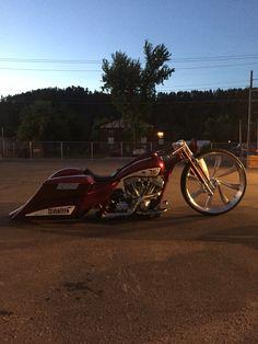 Custom Harley Davidson  Misfit Industries misfit Made  Bagger www.misfitmademotorcycles.com