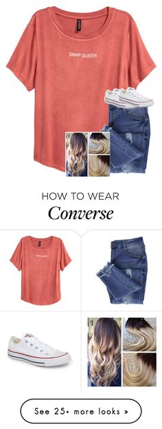 """Untitled #6805"" by laurenatria11 on Polyvore featuring Essie and Converse"