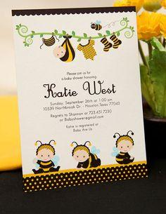 PRINTABLE INVITATION DIY  Bumble Bee Baby Shower  by leelaaloo, $12.00