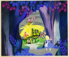 Mary Blair's Alice in Wonderland Concept Art
