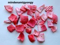 Festett kagylógyöngy 25g - piros