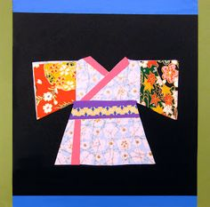 Positive Space: Art Instruction for Kids: Gallery, kimono collage
