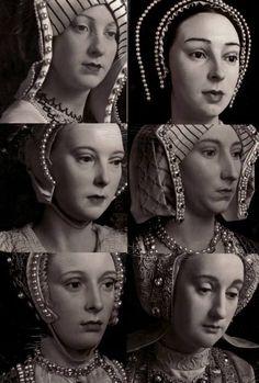 Wax figures of Henry VIII's wives. Nice!