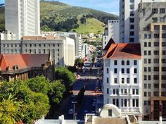 Balcony view on Wale Street. City Bowl. Cape Town city. RSA