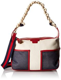 Women's Top-Handle Handbags - Tommy Hilfiger Josie Hobo Top Handle Bag Natural Multi One Size -- Click image for more details.