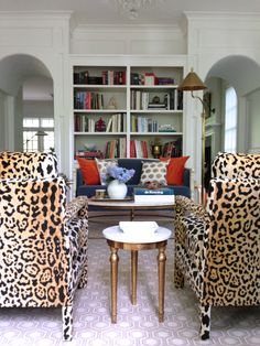 leopard chairs animal print leopard print cheetah print  home decor decorating interior design ideas style