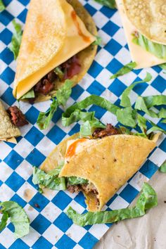 Craving Jack in the Box Tacos? Try this healthier version made with ingredients you know and NO deep-frying! Great for parties with a make-ahead option!