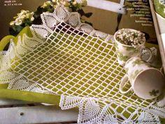 Mantel o carpeta rectangular tejida al crochet - con esquema y patrón | Crochet y Dos agujas - Patrones de tejido
