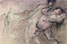 Richard Ceri (British, 1903-1971) - The Rape of the Sabine Women, 1950